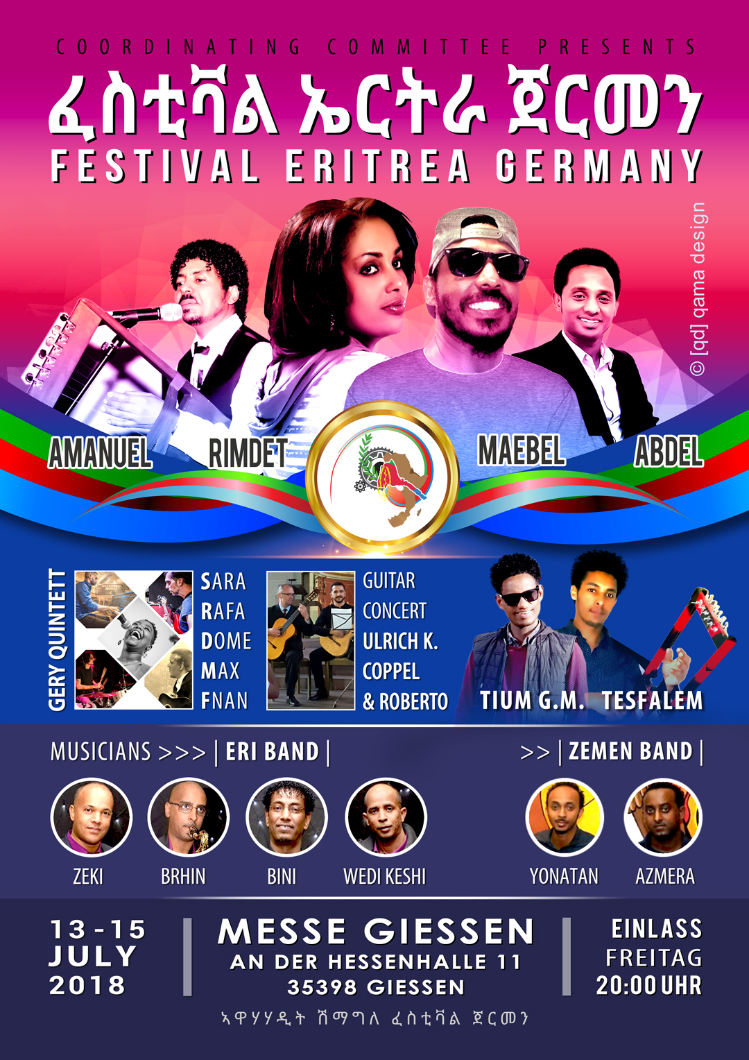 Festiva eritrea germany 2018   artists from germany