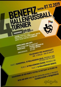 Benefiz hallenfussball turner in stuttgart am 07 nov 2019 um  0900 uhr